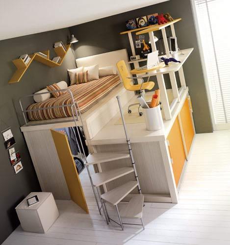 ไอเดียการจัดห้องนอนเล็ก ๆ ให้มีพืันที่มากขึ้น