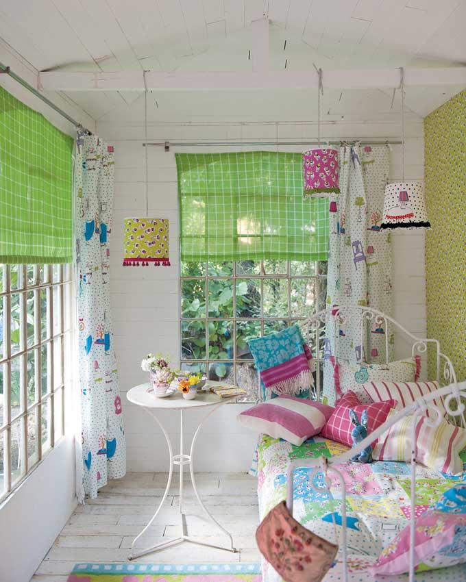 ห้องนอนสวยที่เต็มไปด้วยสีสัน