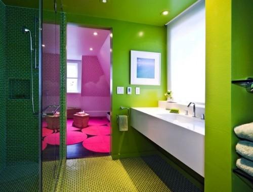 ตกแต่งห้องน้ำด้วยสีสันสดใส