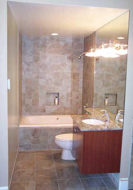 ห้องน้ำขนาดเล็กออกแบบและตกแต่งอย่างสวยงาม