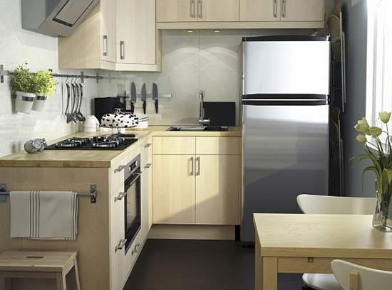 ห้องครัวขนาดเล็กเข้ามุมรูปตัวแอล