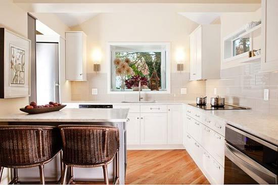 ห้องครัวสีขาว เหมาะกับพื้นที่ขนาดเล็ก