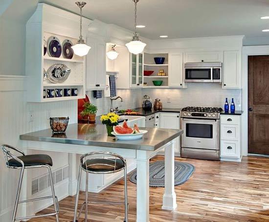 ห้องครัวสีขาวสวยเข้ามุม