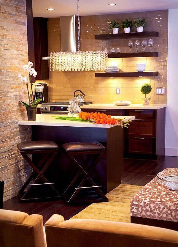 ห้องครัวขนาดเล็กสไตล์ร้านอาหาร