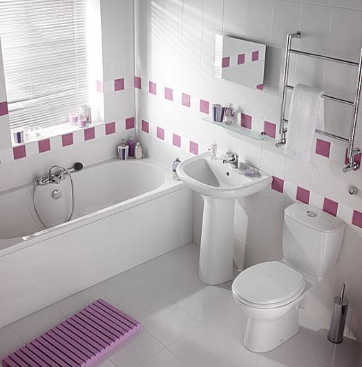 ตกแต่งห้องน้ำขนาดเล็กสีขาว